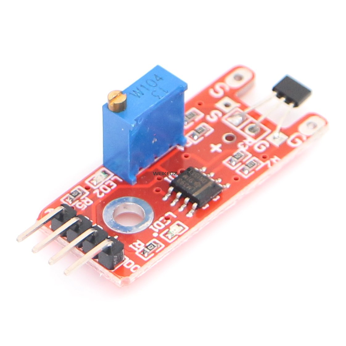 Linear Magnetic Hall Sensor Module Ky 024 Shenzhen Weikedz Effect Circuits Switch Integrated Circuit Using Principle Uses The Semiconductor Technology Manufacturing Susceptibility Of