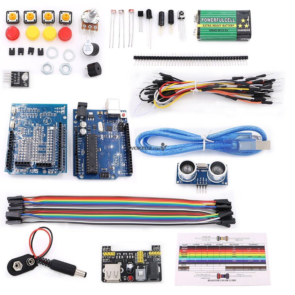 T2 Uno Basic Starter Learning Kit For Arduino Shenzhen Weikedz Details About Educational Electronics Circuit Manual This Is A Upgrade Version R3 Add More Components To Achieve Features And Experiment Youll Learn Through Building Several Creative